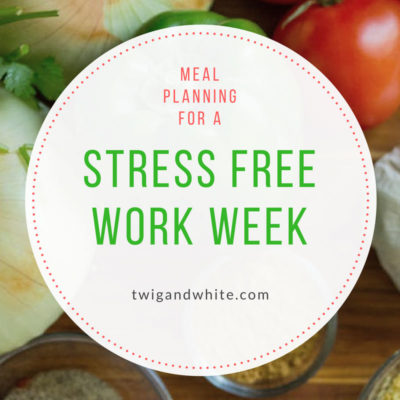 Meal Planning for a Stress Free Work Week (plus free printable)