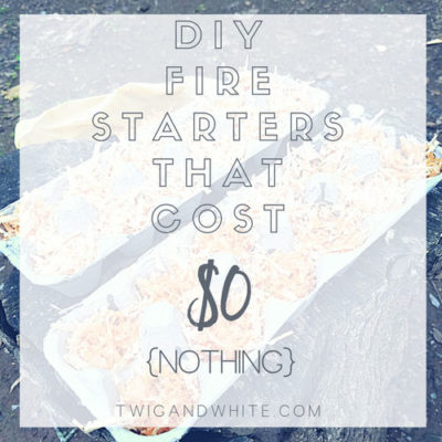 DIY Fire Starters that Cost $0