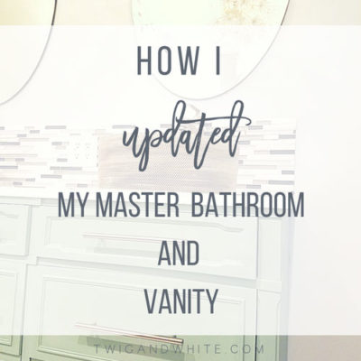 How I Updated the Bathroom Vanity