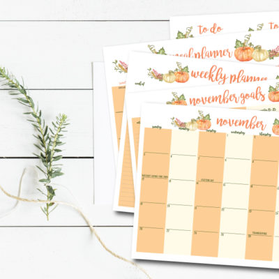 Free Monthly Planners & a Giveaway!