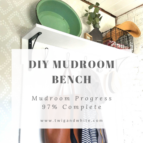 diy mudroom bench project