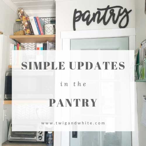simple pantry updates