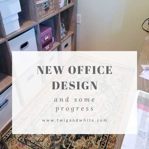 new office design and progress