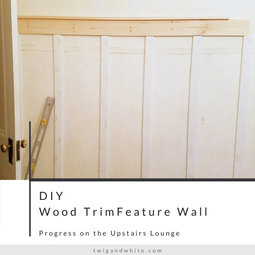 diy wood trim feature wall