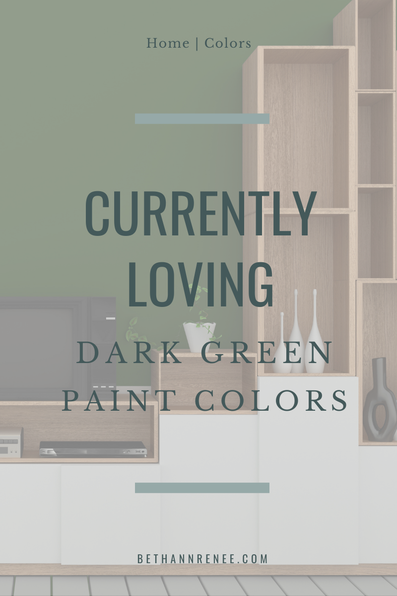 currently loving dark green