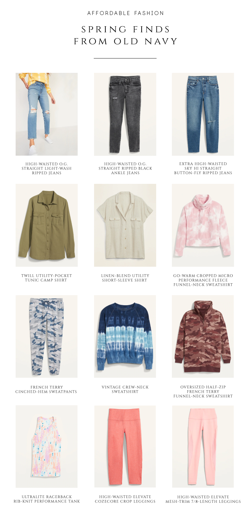 spring favorites from Old navy