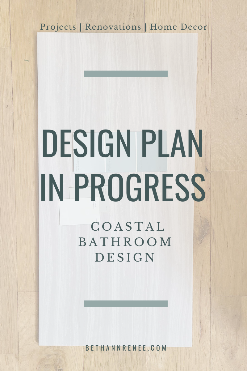 design plan in progress coastal bathroom
