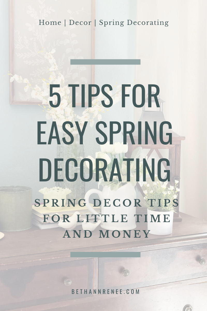 5 tips for easy spring decorating
