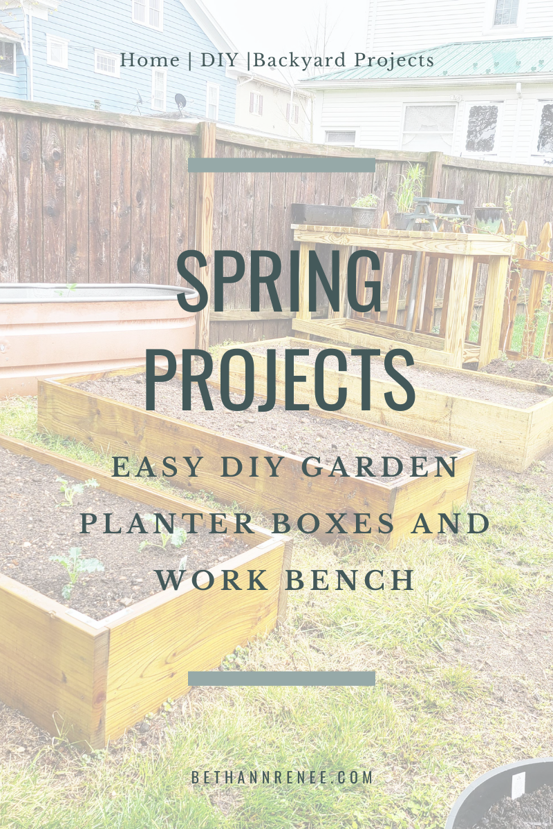 easy diy garden planter boxes and work bench